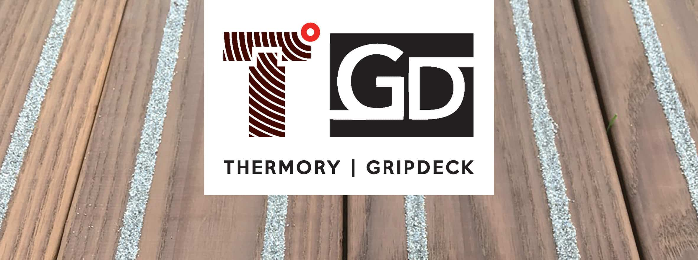 A joint Thermory and GripDeck banner