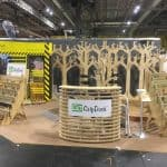 The stand for the expo made entirely by the CNC machine
