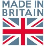 Made in Britain above British Flag