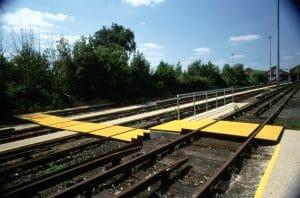 non slip track crossing