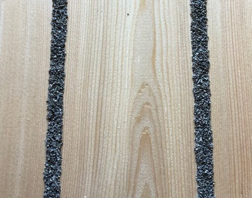 Larch anti slip decking