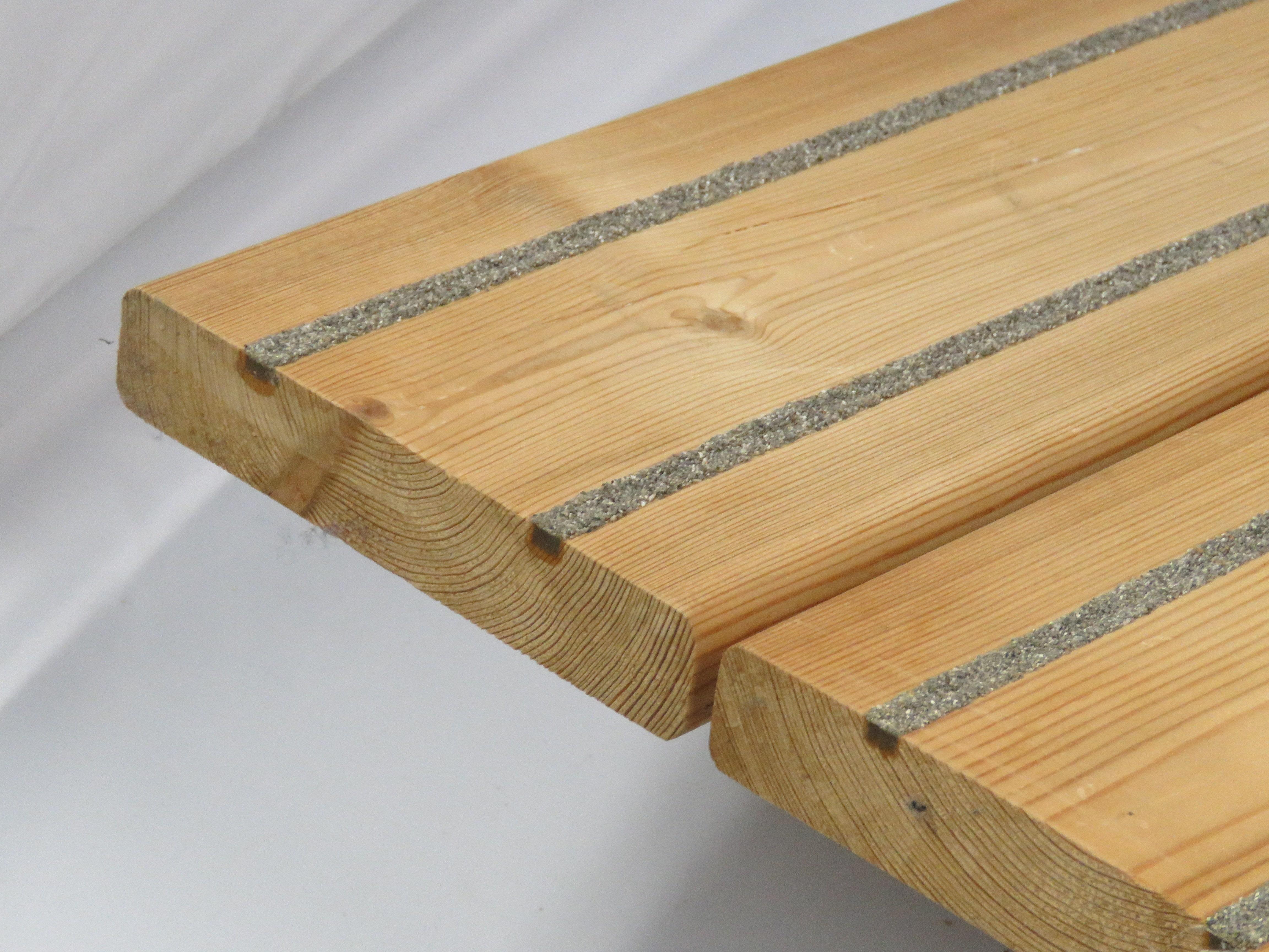 larch anti slip decking