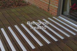 Retrogrip Tread50 anti slip decking strips
